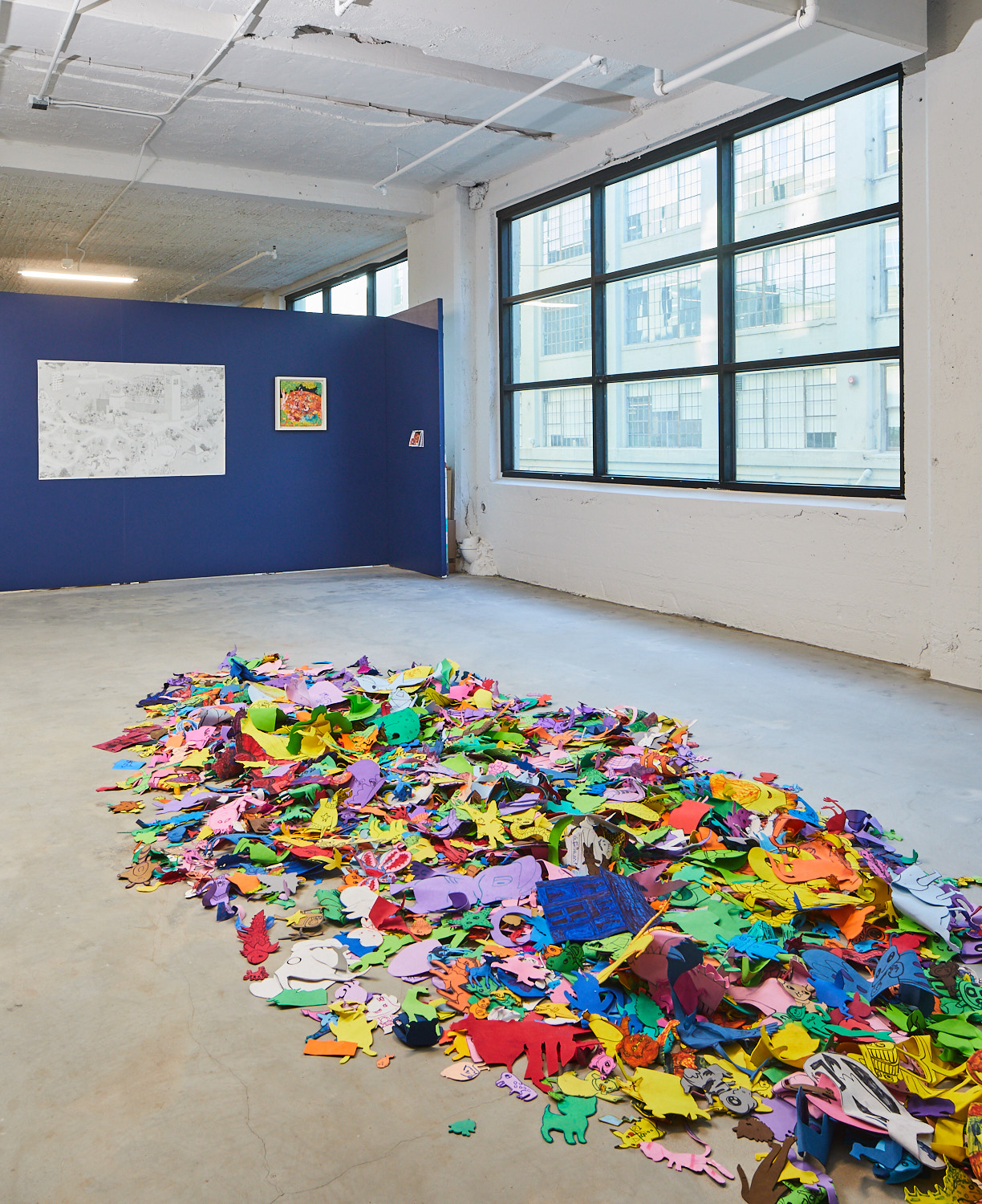 """Foam Babies"" on display in the exhibition at SPRING/BREAK Los Angeles. (Sam Sachs Morgan)"